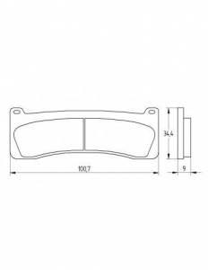 Accossato - Accossato Brake Pads Kit For Motorcycle,  Compound, AGPA204 code
