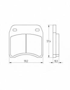 Accossato - Accossato Brake Pads Kit For Motorcycle, Made In Italy Compound, AGPA209 code