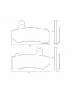 Accossato - Accossato Brake Pads Kit For Motorcycle, Made In Italy Compound, AGPA219 code