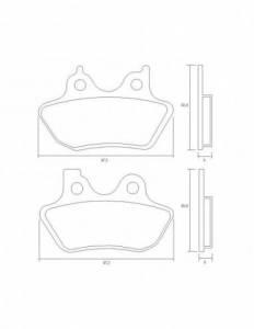 Accossato - Accossato Brake Pads Kit For Motorcycle,  Compound, AGPA215 code