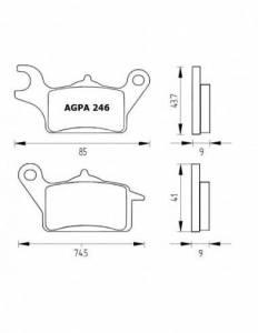 Accossato - Accossato Brake Pads Kit For Motorcycle,  Compound, AGPA246 code
