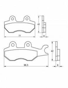 Accossato - Accossato Brake Pads Kit For Motorcycle,  Compound, AGPA23 code
