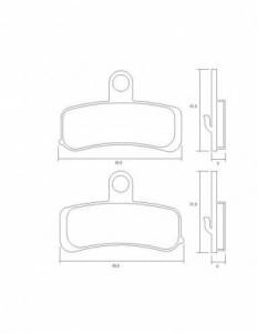 Accossato - Accossato Brake Pads Kit For Motorcycle, Made In Italy Compound, AGPA220 code