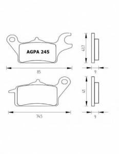 Accossato - Accossato Brake Pads Kit For Motorcycle, Made In Italy Compound, AGPA245 code