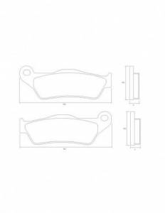 Accossato - Accossato Brake Pads Kit For Motorcycle,  Compound, AGPA218 code