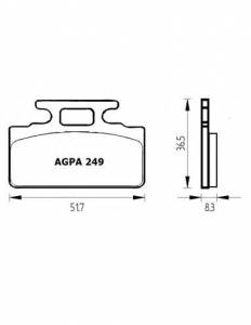 Accossato - Accossato Brake Pads Kit For Motorcycle, Made In Italy Compound, AGPA249 code
