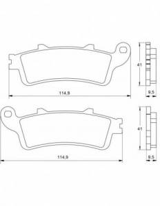 Accossato - Accossato Brake Pads Kit For Motorcycle, Made In Italy Compound, AGPA25 code