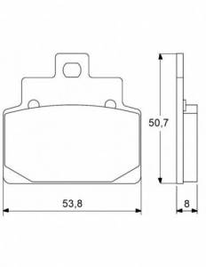 Accossato - Accossato Brake Pads Kit For Motorcycle, Made In Italy Compound, AGPA30 code