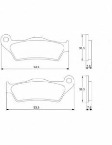 Accossato - Accossato Brake Pads Kit For Motorcycle, Made In Italy Compound, AGPA29 code