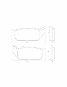 Accossato - Accossato Brake Pads Kit For Motorcycle, Made In Italy Compound, AGPA216 code