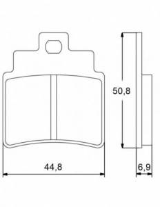 Accossato - Accossato Brake Pads Kit For Motorcycle, Made In Italy Compound, AGPA43 code