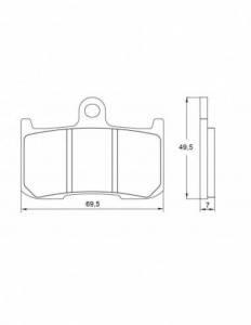Accossato - Accossato Brake Pads Kit For Motorcycle,  Compound, AGPA38 code