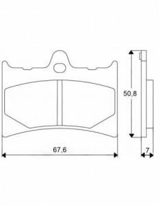 Accossato - Accossato Brake Pads Kit For Motorcycle,  Compound, AGPA33 code