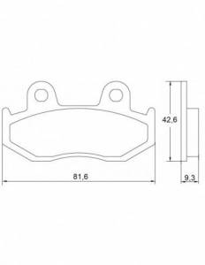 Accossato - Accossato Brake Pads Kit For Motorcycle, Made In Italy Compound, AGPA40 code