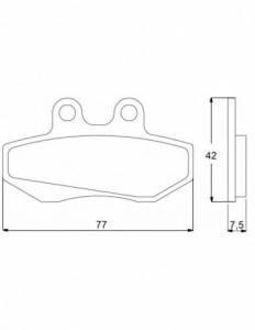 Accossato - Accossato Brake Pads Kit For Motorcycle,  Compound, AGPA70 code