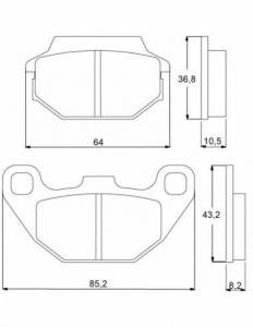 Accossato - Accossato Brake Pads Kit For Motorcycle, Made In Italy Compound, AGPA50 code