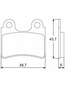 Accossato - Accossato Brake Pads Kit For Motorcycle,  Compound, AGPA45 code