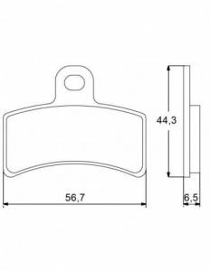 Accossato - Accossato Brake Pads Kit For Motorcycle, Made In Italy Compound, AGPA44 code