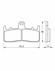 Accossato - Accossato Brake Pads Kit For Motorcycle, Made In Italy Compound, AGPA57 code