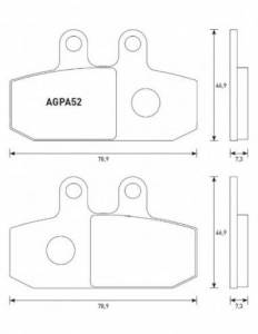 Accossato - Accossato Brake Pads Kit For Motorcycle, Made In Italy Compound, AGPA52 code