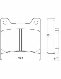 Accossato - Accossato Brake Pads Kit For Motorcycle, Made In Italy Compound, AGPA54 code