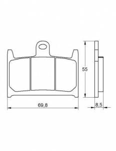 Accossato - Accossato Brake Pads Kit For Motorcycle, Made In Italy Compound, AGPA58 code