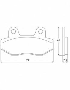 Accossato - Accossato Brake Pads Kit For Motorcycle, Made In Italy Compound, AGPA79 code