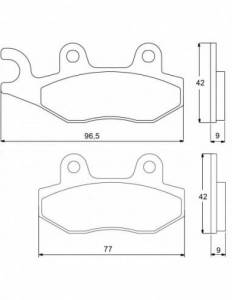 Accossato - Accossato Brake Pads Kit For Motorcycle, Made In Italy Compound, AGPA80 code