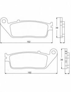 Accossato - Accossato Brake Pads Kit For Motorcycle, Made In Italy Compound, AGPA72 code