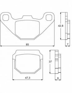 Accossato - Accossato Brake Pads Kit For Motorcycle, Made In Italy Compound, AGPA82 code