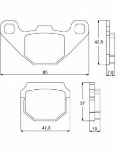 Accossato - Accossato Brake Pads Kit For Motorcycle, Made In Italy Compound, AGPA83 code