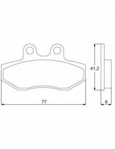 Accossato - Accossato Brake Pads Kit For Motorcycle, Made In Italy Compound, AGPA85 code