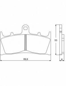 Accossato - Accossato Brake Pads Kit For Motorcycle,  Compound, AGPA73 code