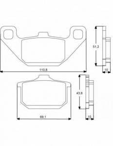 Accossato - Accossato Brake Pads Kit For Motorcycle, Made In Italy Compound, AGPA74 code