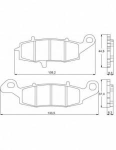 Accossato - Accossato Brake Pads Kit For Motorcycle, Made In Italy Compound, AGPA94 code