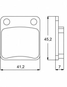 Accossato - Accossato Brake Pads Kit For Motorcycle, Made In Italy Compound, AGPA88 code