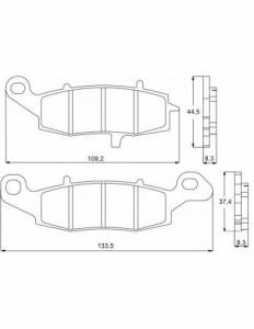 Accossato - Accossato Brake Pads Kit For Motorcycle, Made In Italy Compound, AGPA95 code
