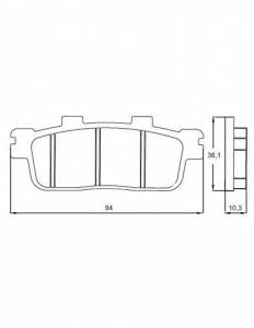 Accossato - Accossato Brake Pads Kit For Motorcycle, Made In Italy Compound, AGPP107 code