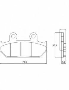 Accossato - Accossato Brake Pads Kit For Motorcycle, Made In Italy Compound, AGPP109 code