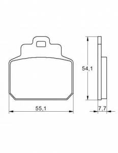 Accossato - Accossato Brake Pads Kit For Motorcycle, Made In Italy Compound, AGPP161 code