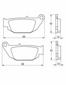 Accossato - Accossato Brake Pads Kit For Motorcycle,  Compound, AGPP181 code