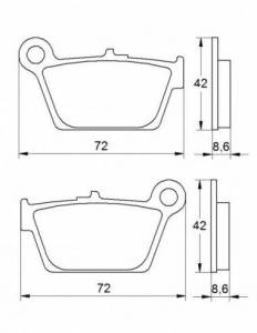 Accossato - Accossato Brake Pads Kit For Motorcycle, Made In Italy Compound, AGPP188 code