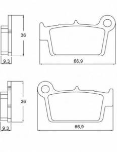 Accossato - Accossato Brake Pads Kit For Motorcycle, Made In Italy Compound, AGPP106 code