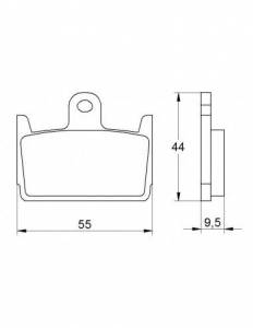 Accossato - Accossato Brake Pads Kit For Motorcycle, Made In Italy Compound, AGPP150 code