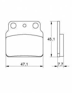 Accossato - Accossato Brake Pads Kit For Motorcycle, Made In Italy Compound, AGPP165 code