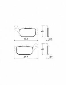 Accossato - Accossato Brake Pads Kit For Motorcycle, Made In Italy Compound, AGPP155 code