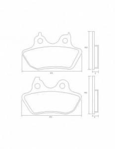 Accossato - Accossato Brake Pads Kit For Motorcycle,  Compound, AGPP214 code