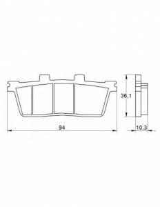 Accossato - Accossato Brake Pads Kit For Motorcycle,  Compound, AGPP57 code