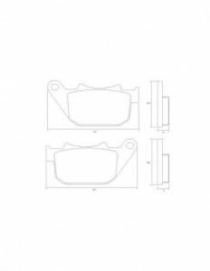 Accossato - Accossato Brake Pads Kit For Motorcycle,  Compound, AGPP217 code