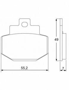 Accossato - Accossato Brake Pads Kit For Motorcycle, Made In Italy Compound, AGPP41 code